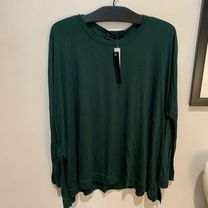 Nally and Millie Layered Scoop Green Top